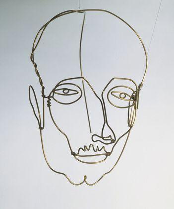 "Alexander Calder (American, 1898–1976) Portrait of a Man  Date:     New York, c. 1928 Medium:     Brass wire Dimensions:     12 7/8 x 8 3/4 x 13 1/2"" (32.5 x 22.2 x 34.2 cm)"
