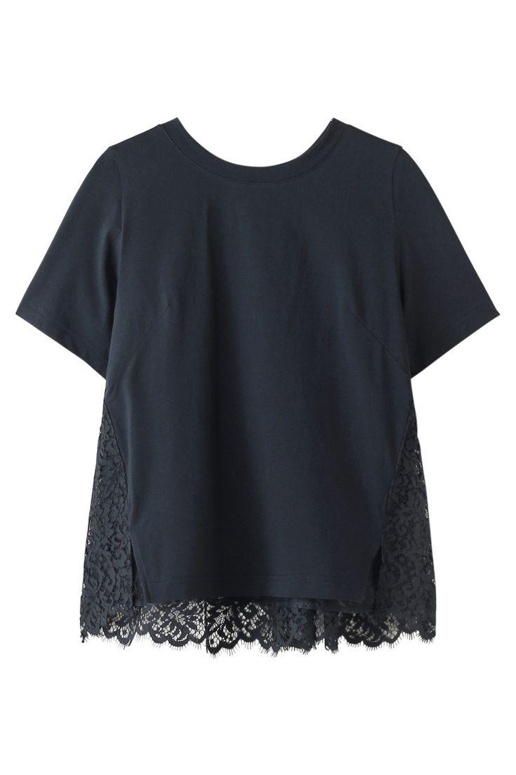 レースドッキングTシャツ ミュベール/MUVEIL