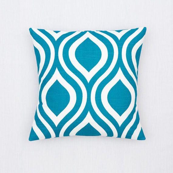 blue teal pillow pillow coverhome decorlarge premier prints