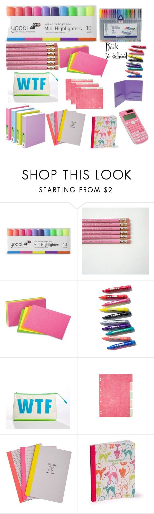"""School supplies"" by kjulia240 ❤ liked on Polyvore featuring interior, interiors, interior design, home, home decor, interior decorating, Yoobi, Alexandra Ferguson and Casio"
