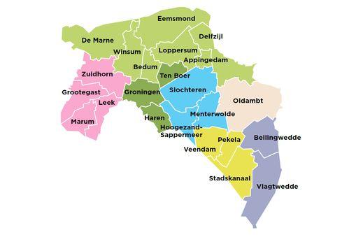 gemeentelijke herindeling provincie Groningen -