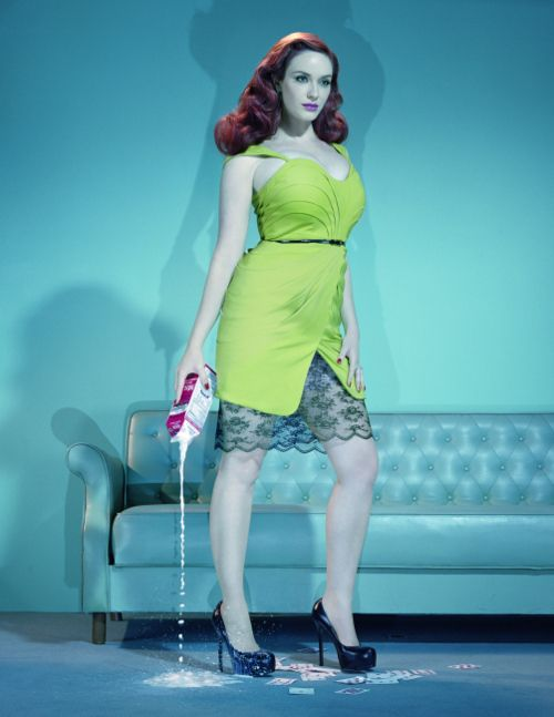Christina Hendricks by Miles Aldridge