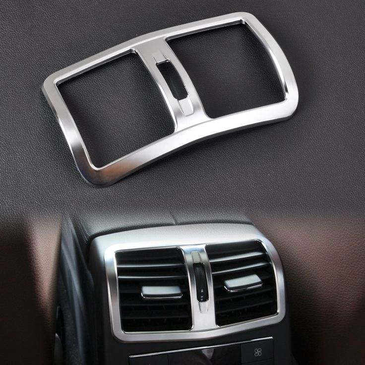 New Interior Chrome Armrest Box Rear Air Condition Vent Cover Trim Air Outlet decorative for Mercedes Benz W212 E Class 2013+