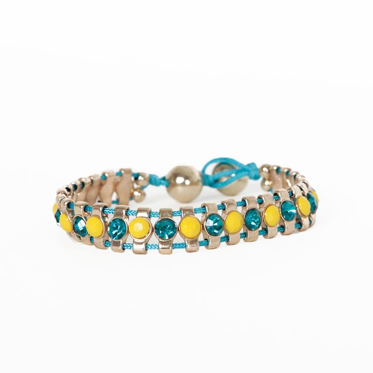 Chutes and Ladders Bracelet in Blue