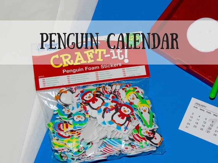 Calendar Ideas For Grandparents : Making a penguin calendar as christmas gift for