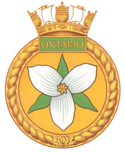 HMCS ONTARIO Badge - The Canadian Navy - ReadyAyeReady.com