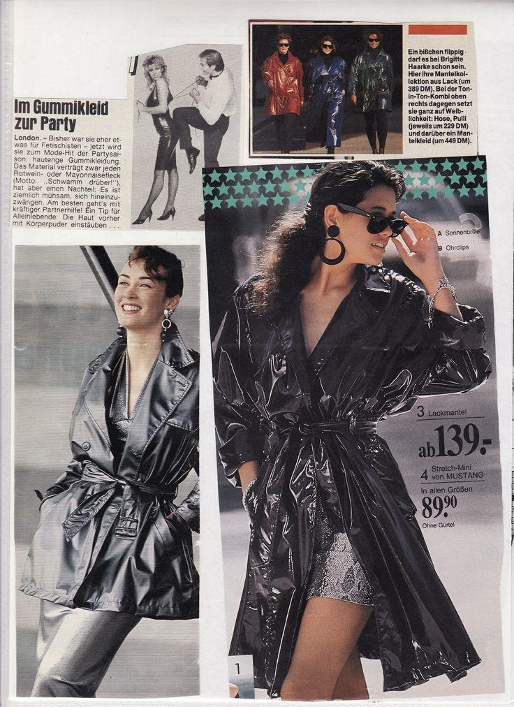 Lackmäntel und Gummikleid | Latexladys | Pinterest | Retro style ...