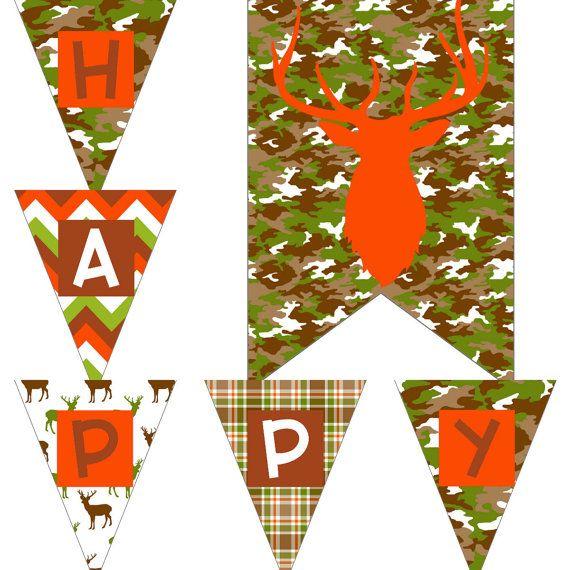 Boys Camo Birthday Decorations Camoflauge by PocketOfPosiesPrints