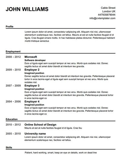 24 best Resumes images on Pinterest Management, Career and At home - pilot resume