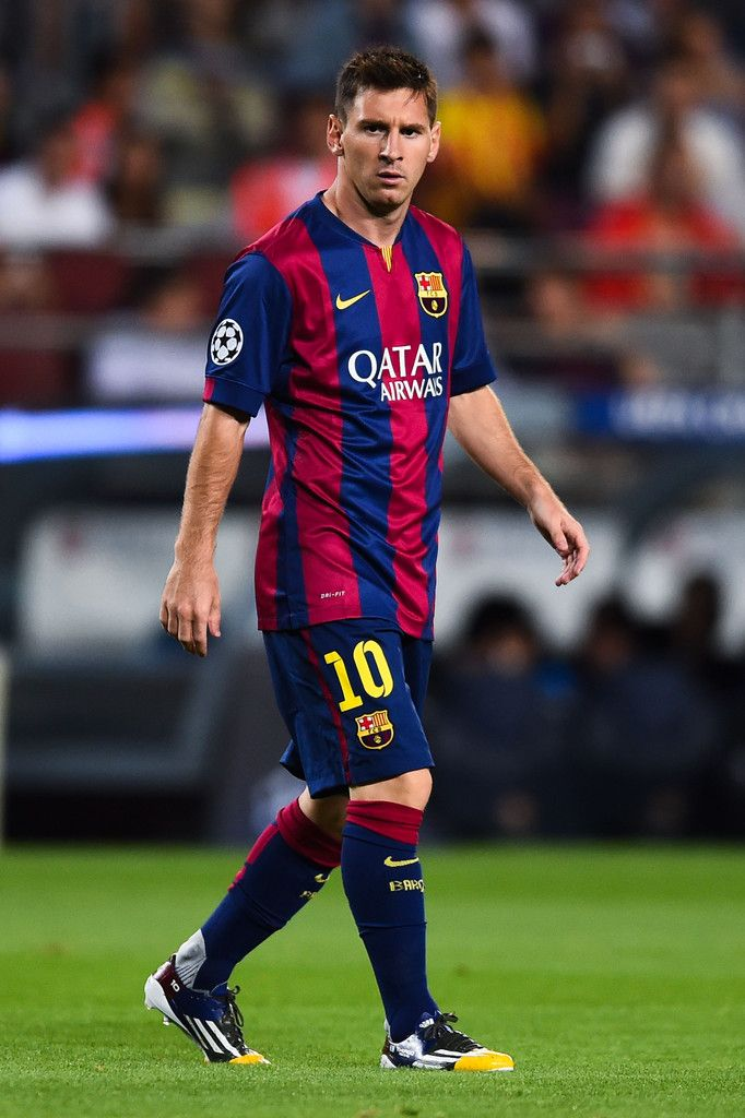 Lionel Messi of FC Barcelona looks on during the UEFA Champions League Group F match between FC Barcelona and APOEL FC at the Camp Nou Stadium on September 17, 2014 in Barcelona, Catalonia.
