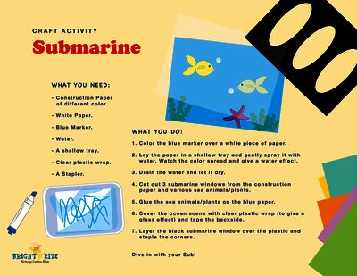 Submarine Window from BrightNRite from BrightNRite on TeachersNotebook.com (1 page)  - Create a unique window to explore the world under the ocean.
