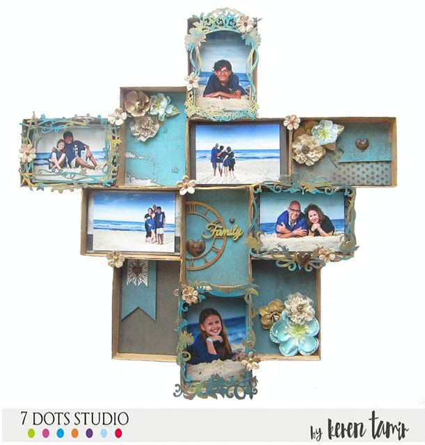 Expressing from my Heart and Soul: Photo Collaage Wall Hanging for 7 Dots Studio
