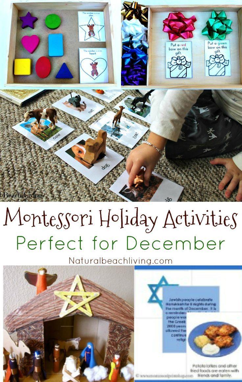 Montessori Holiday Activities Perfect for December, Montessori Christmas Activities, Montessori Hanukkah Ideas, Kwanzaa, Nativity, Montessori Gift Ideas & More