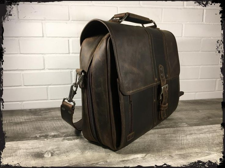 """The Reckoner"" Laptop Bag - Black Whiskey - 15"""