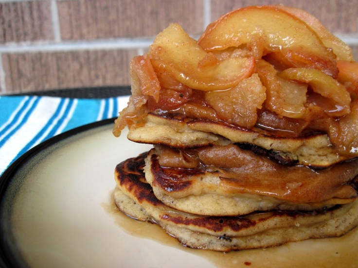 Caramel Apple Pancakes (nut free) | PaleOMG - Paleo Recipe