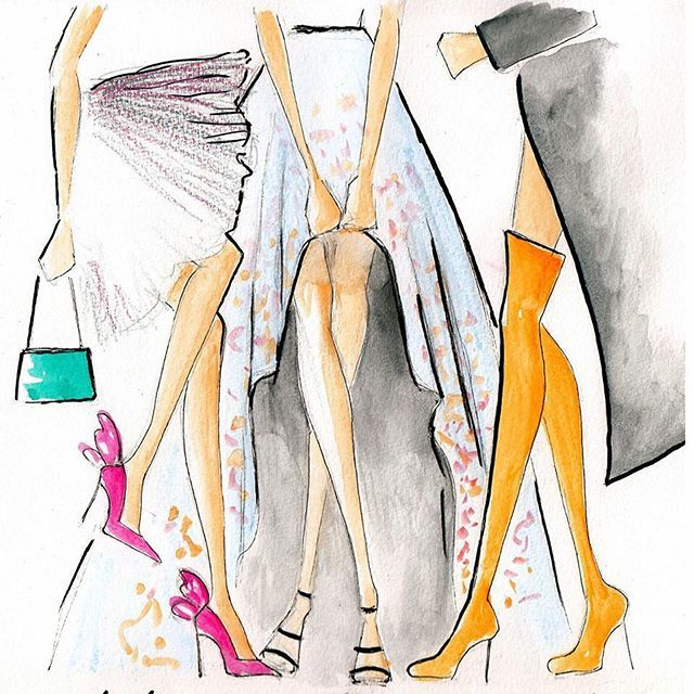 Getting all dressed up for MSFW. Sparkly heels? Pretty florals or classic camel... Decisions decisions!