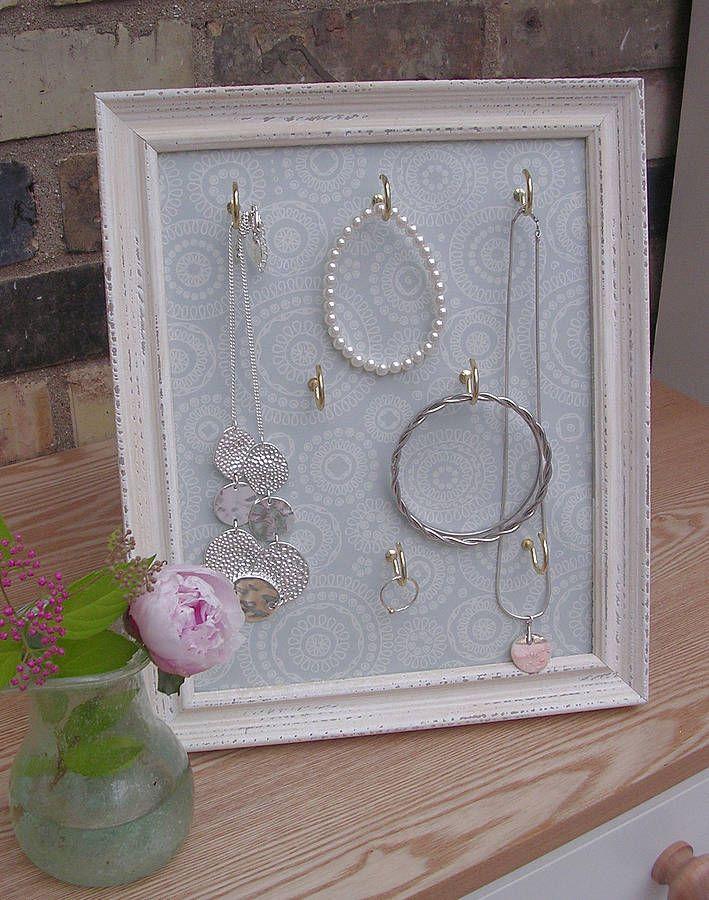 Nice jewellery display idea... and easy to make yourself.
