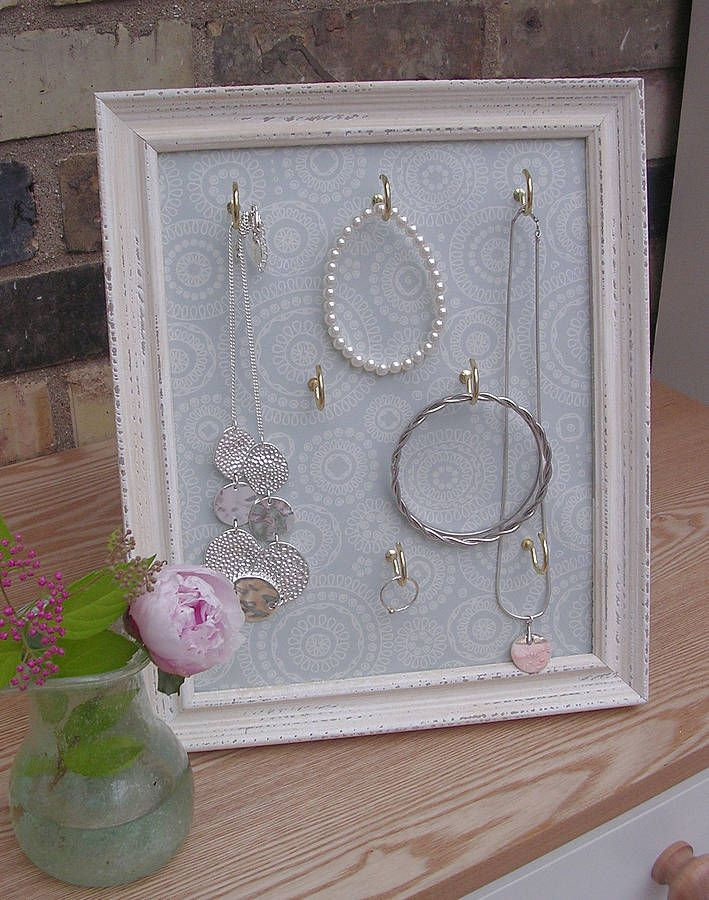 Jewellery display frame - wallpaper art design