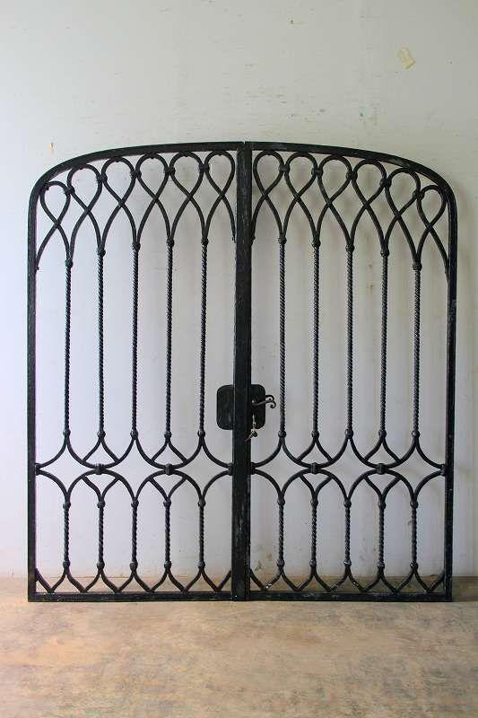 アンティークアイアン門扉 - boncote - フランス アンティークドア の直輸入販売 圧倒的な存在感を持つ重厚なアンティークドアをお店のイメージアップに!