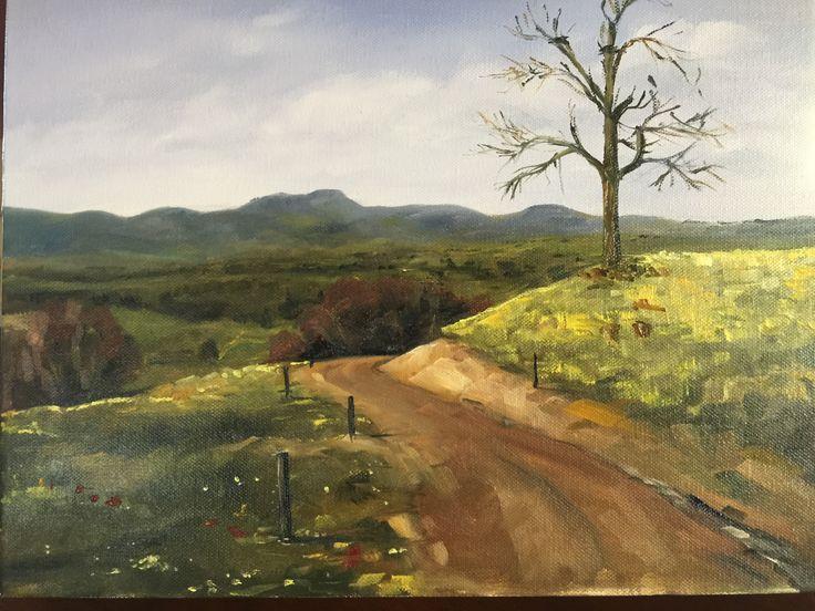 Euroa strathbogie ranges landscape oil on canvas