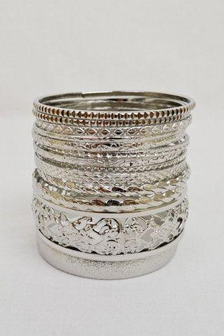 bohemian layered arm candy bracelet stack