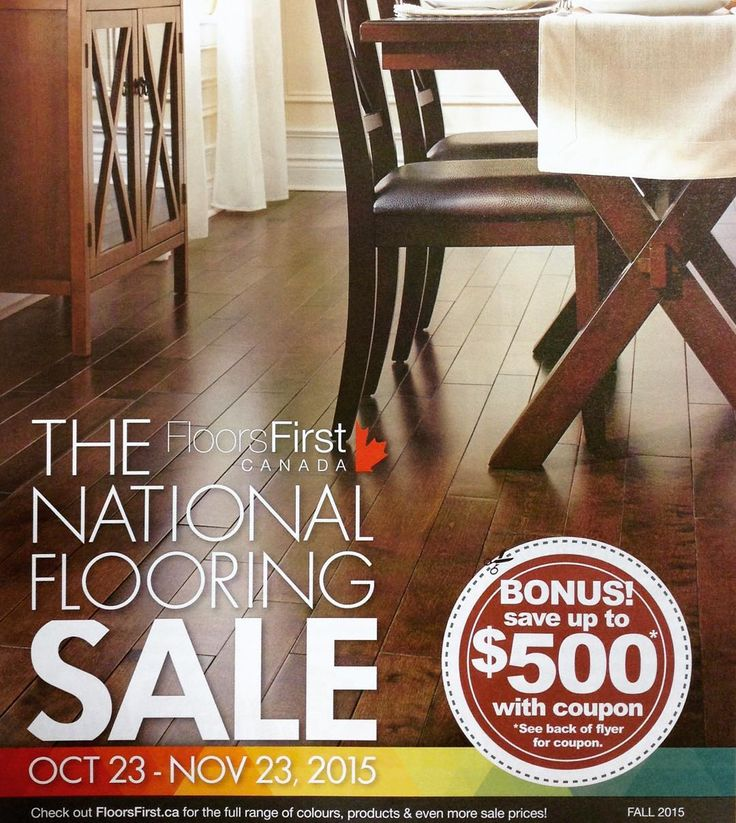 Floors First National Flooring Sale. Starts October 23   November 23