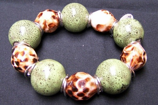 Green ClayStretch  Bracelet by momsjewels on Etsy, $16.00: 16 00, Claystretch Bracelet, Green Claystretch, Stretch Bracelets, Momsjewels Etsy Com