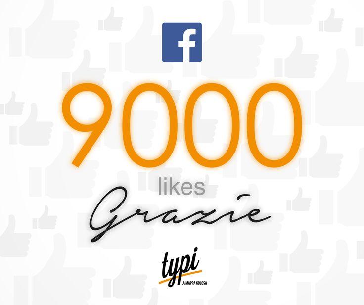 Siamo 9000 su #facebook!! grazie a tutti!!