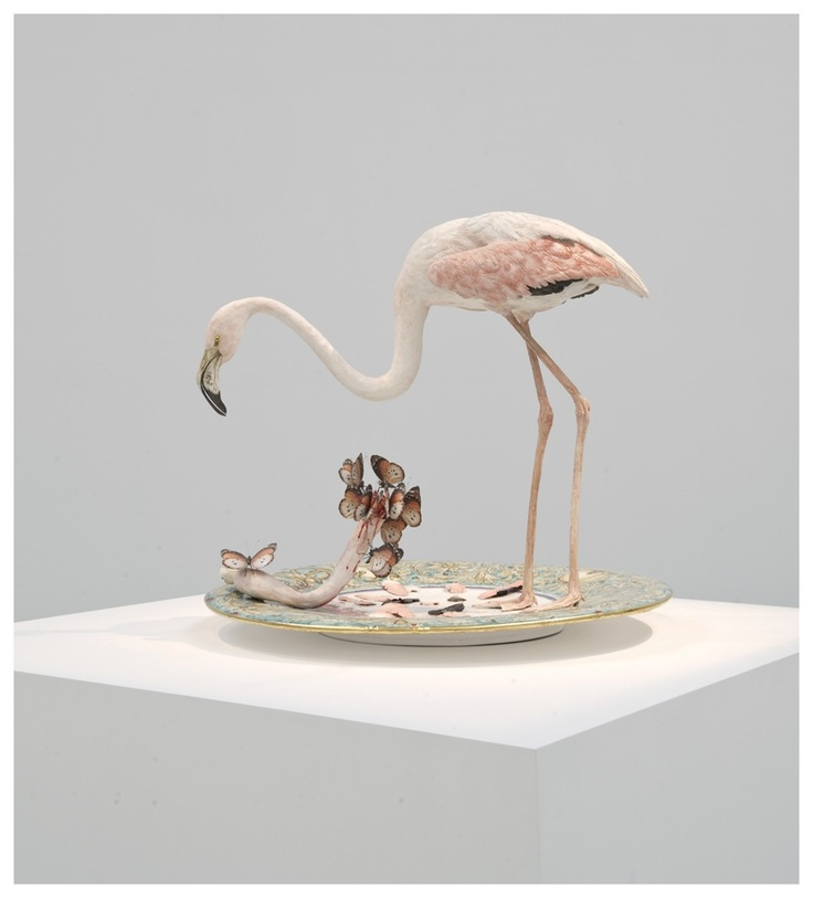 Bertozzi e Casoni-Plate with Flamingo