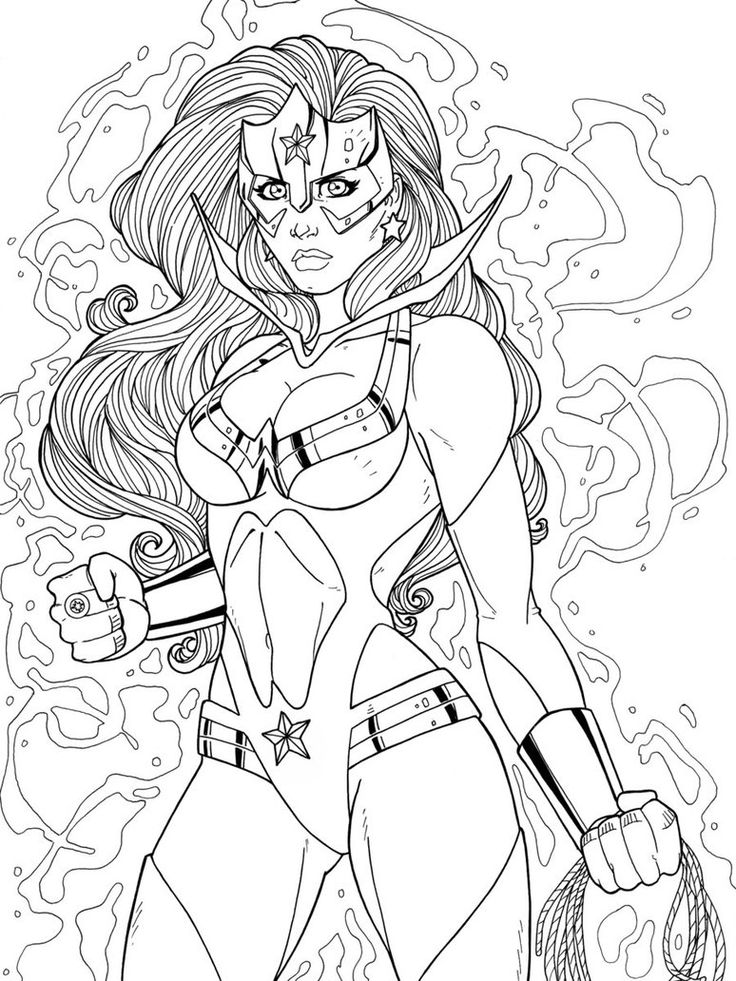 coloring pages superheroes womens costumes - photo#5