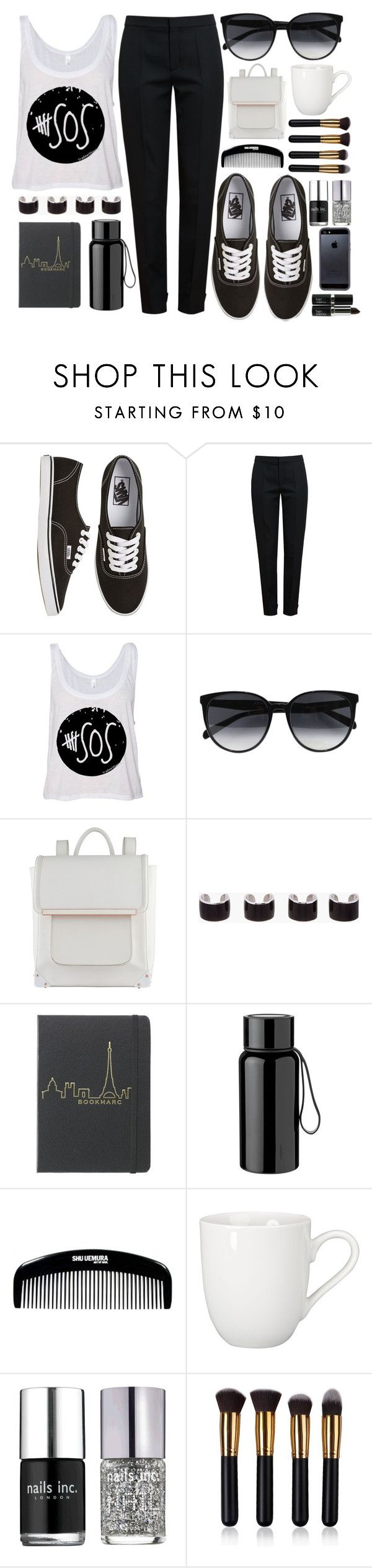 """#5SOS"" by onedeetwins ❤ liked on Polyvore featuring Vans, Chloé, CÉLINE, ALDO, Maison Margiela, Stelton, BIA Cordon Bleu, Nails Inc. and Tavik Swimwear"