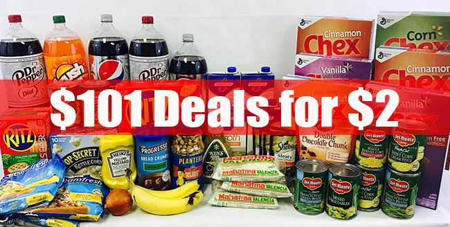 $101 groceries for $2