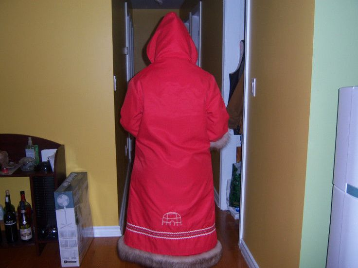 Parka from the back with weather shell