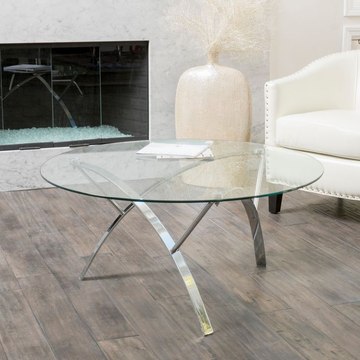 The 25 best round glass coffee table ideas on pinterest for Sofa table glass replacement