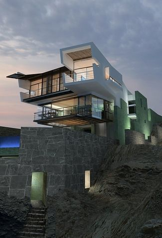 contemporary house by the sea
