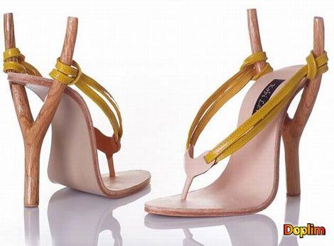 Zapatos con onda He visto muchos modelos creativos, pero la verdad que este diseño de zapatos simulando una onda/gomera, esta muy muy bueno! pero creo qeu muy incómodos! o no?