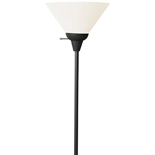 floor lamps forward light accents 100 watt floor lamp with white shade. Black Bedroom Furniture Sets. Home Design Ideas