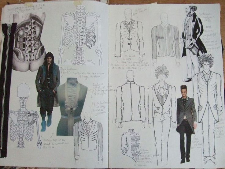 Fashion Sketchbook pages - fashion student collection development; fashion design portfolio // Lindsey May