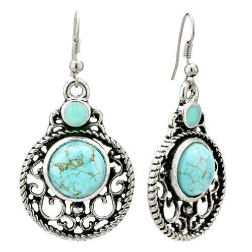 earrings turquoise -- www.blucats.com