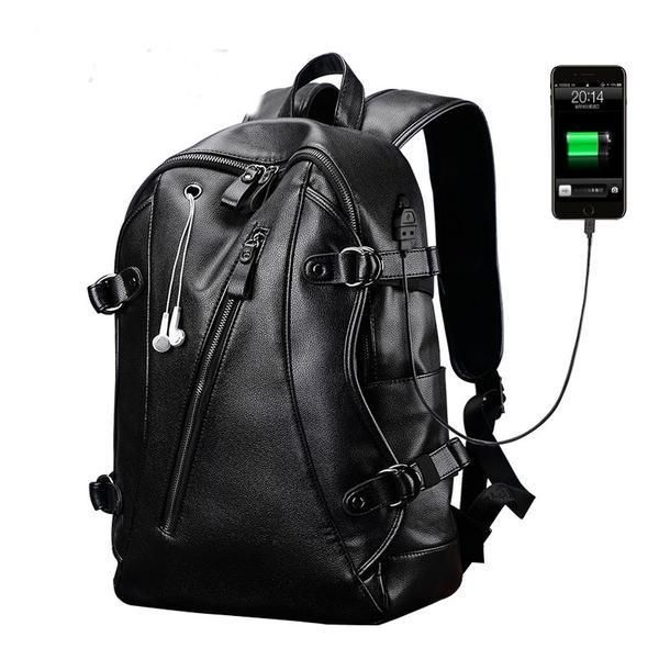Men's Waterproof ... now @ http://loluxes.myshopify.com/products/mens-waterproof-pu-leather-external-usb-multifunctional-black-backpack?utm_campaign=social_autopilot&utm_source=pin&utm_medium=pin  #onlineshopping #Loluxe #newitem #shopnow #shopping
