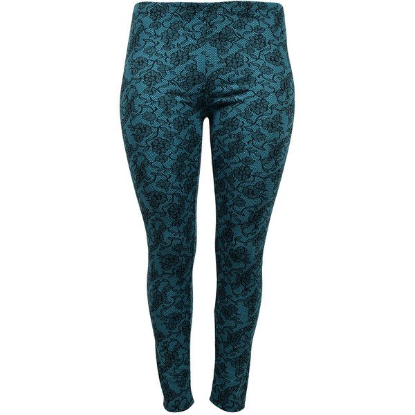 Curvy Lily Green & Black Leggings ($9.99) ❤ liked on Polyvore featuring plus size women's fashion, plus size clothing, plus size pants, plus size leggings, plus size, green trousers, green leggings, green pants and legging pants