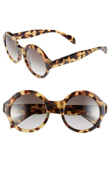 Prada 51mm Round Sunglasses available at #Nordstrom