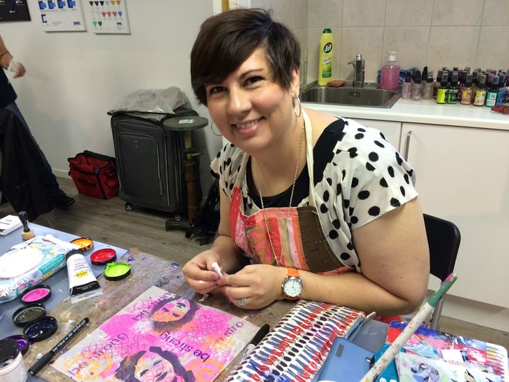 Dina Wakley at HOBBYKUNST october 2014