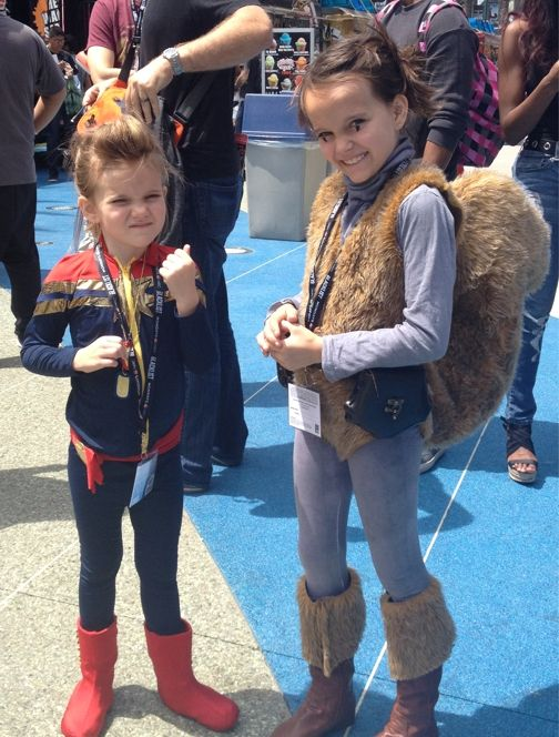 Captain Marvel and Squirrel Girl #WonderCon2014 Kids Cosplay