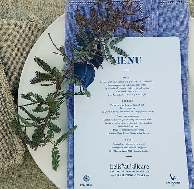 Bells Garden Party Lunch Menu #menu #place #setting #linen