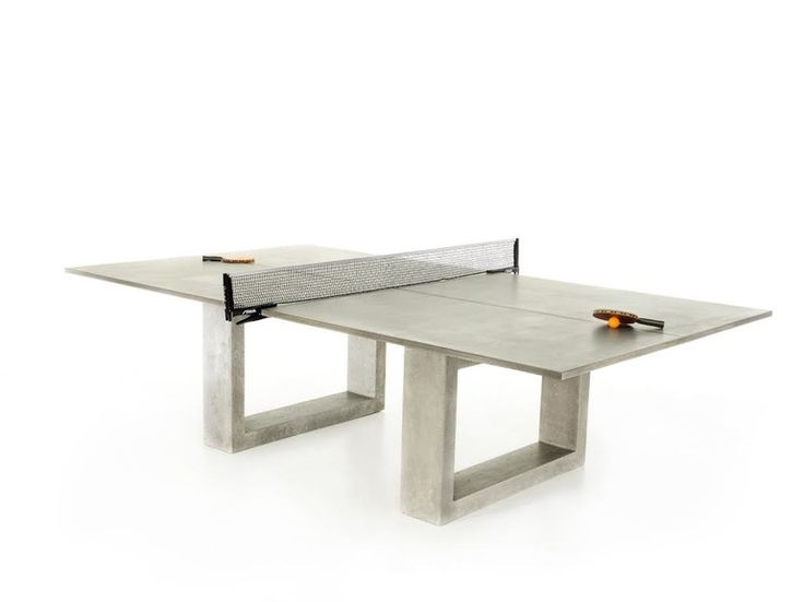 Ping Pong Dining Table  Industrial, Metal, Concrete, Game Table by James De…