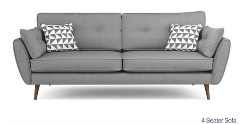 Zinc 4 Seater Sofa Zinc | DFS Ireland