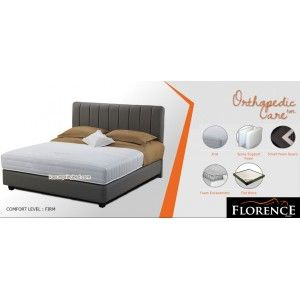 Florence ORTHOPEDIC CARE Spring Bed      Urban Living Series     tebal/tinggi kasur : 26 cm     Sandaran : CALLISTO tinggi 122 cm     Divan CALLISTO : 24 cm     Comfort Level : FIRM
