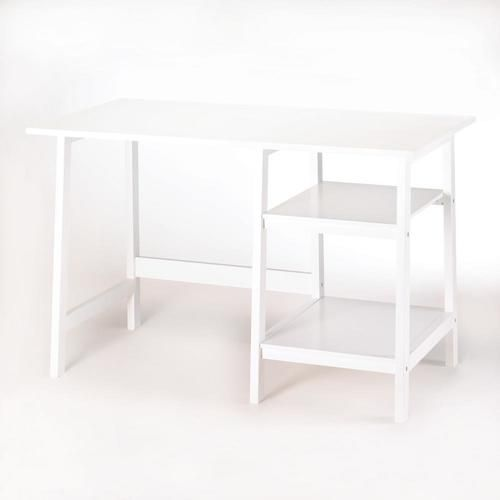 "Whether you're working or studying at home, check off your to-do list at this classic white workstation desk. Simplicity in style with all the space you need for the task at hand.   Due to the size and weight of this item, we are ONLY able to ship it within the Continental United States, to physical address locations, and only via UPS Ground. Shipping to Canada is available. Material(s):WOOD - MDF LACQUER COATING 47.2"" x 23.5"" x 29.5"""