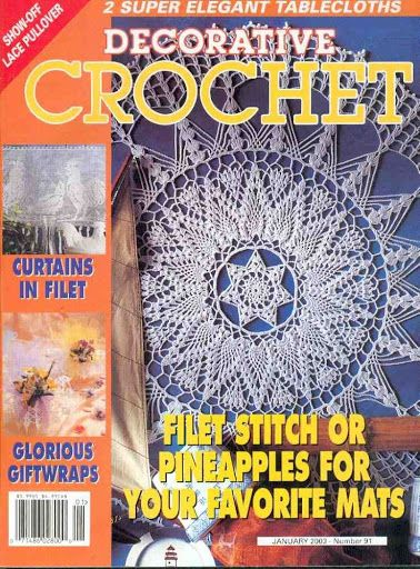 Free Copies Decorative Crochet Magazines 55 - Lot of crochet magazines in English